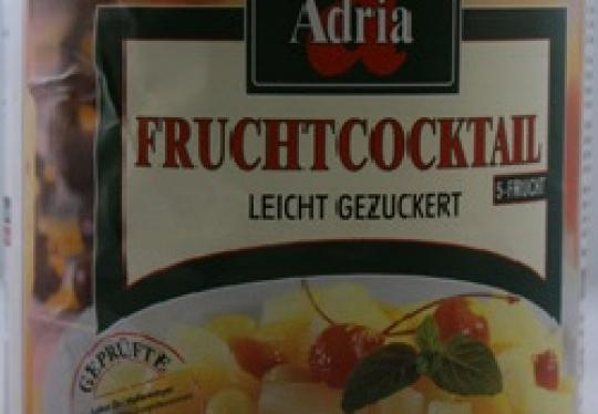 Fruitcocktail 5 vruchten 12 x 225 ml
